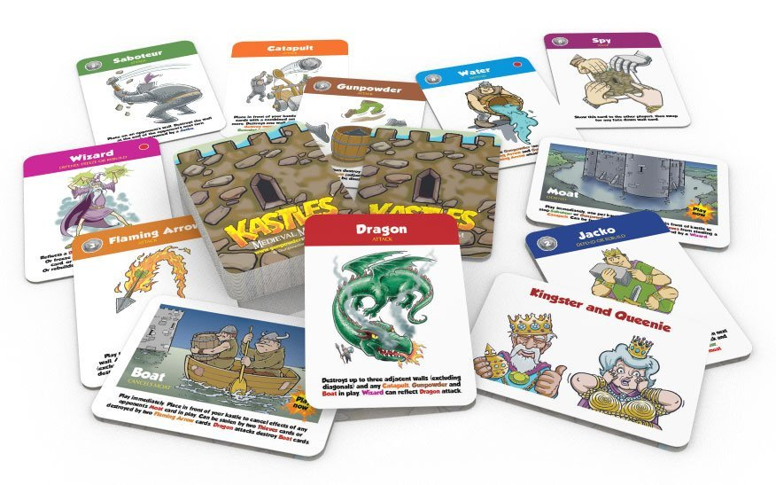 kastles card game - a fun strategy castle defence family card game