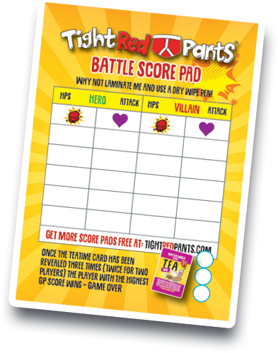 tight red pants card game free score card download