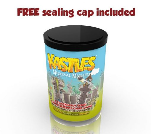 kastles card game with free sealing cap included