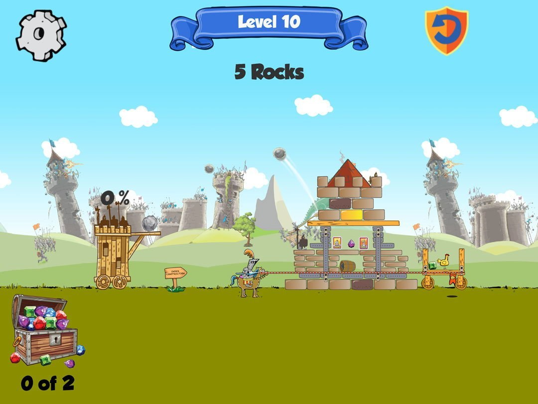 kastles is a similar game to angry birds using the unity physics engine