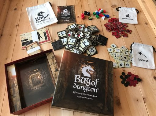 bag of dungeon a fantasy adventure dungeon crawler family board game for 1-4 players