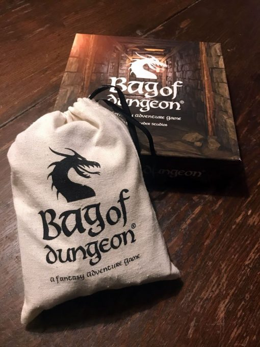bag of Dungeon a complet tabletop adventure board game in a bag