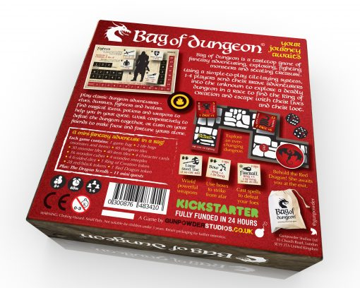 bag of dungeon fantasy adventure dungeon crawler board game for 1-4 players