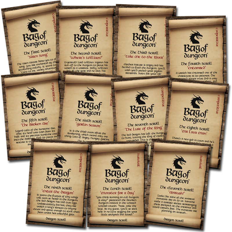 bag of dungeon dragon scrolls