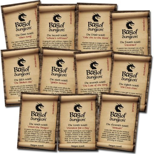 bag of dungeon dragon scrolls