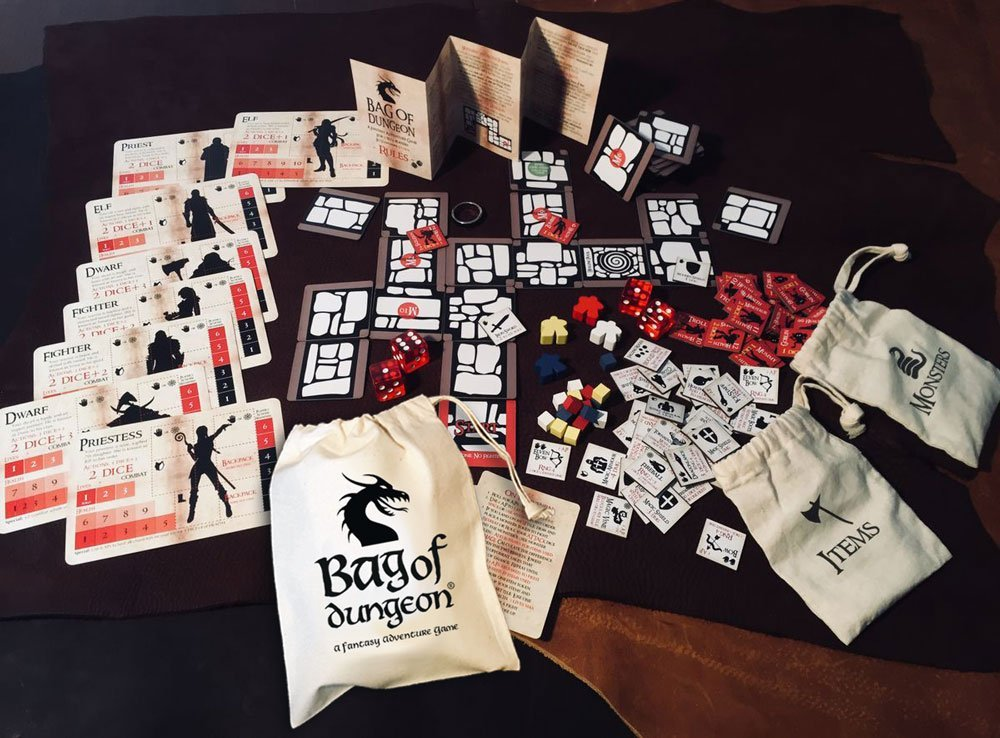 bag of dungeon a fantasy adventure tabletop rpg board game