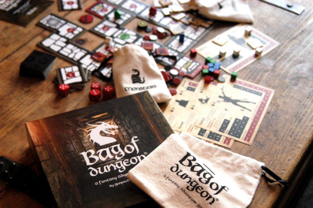 bag of dungeon - kickstarter extra characters minotaur and halfling