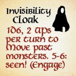 bag of dungeon - invisibility cloak