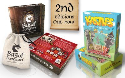 Bag of Dungeon and Kastles – 2nd Editions – Out now!