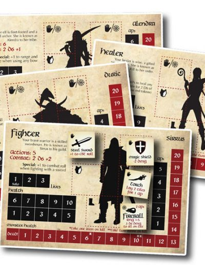 Play classic dungeon characters: elves, dwarves, fighters and healers