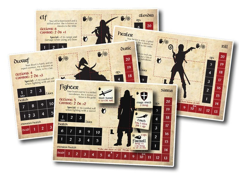 bag of dungeon a fantasy adventure board game characters