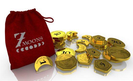 7 moons custom coins