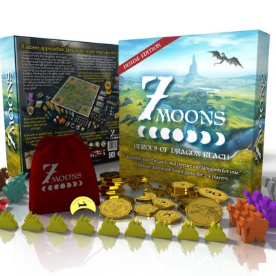 7 moons deluxe plus custom coins and meeples