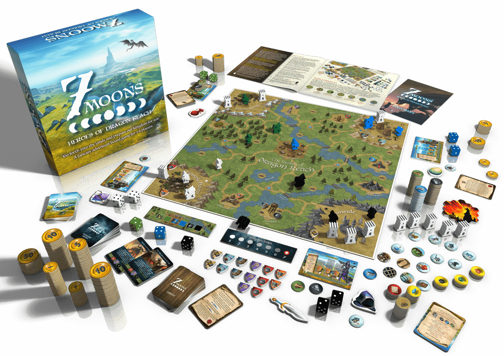 7 Moons: Heroes of Dragon Reach board game
