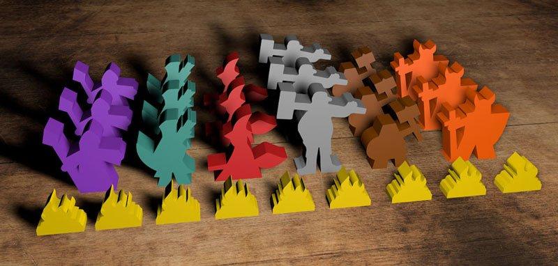 7 moons board game custom wooden meeples
